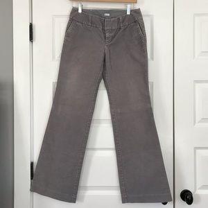 Gray corduroy wide-leg pants